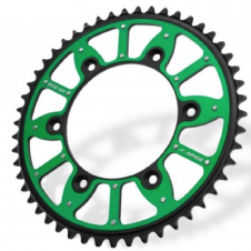 SPROCKET XTREME ALLOY/STEEL KAWASAKI KX125/250 80-08, KX250F/450F 04-20 GREEN